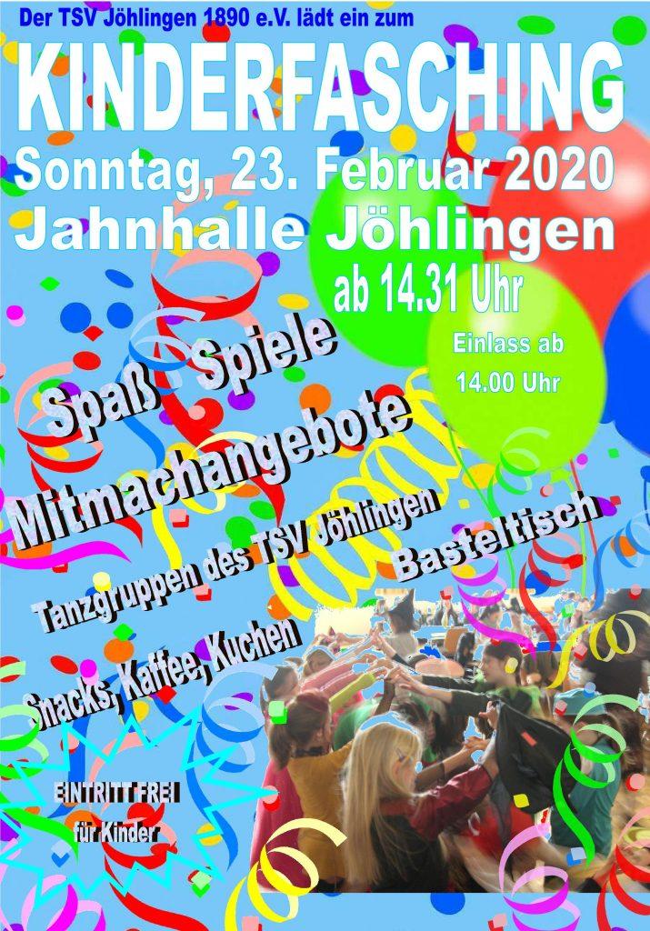 Wann: Sonntag, 23. Februar 2020 ab 14:31 Wo: In der Jahnhalle Jöhlingen Einlass ab 14 Uhr