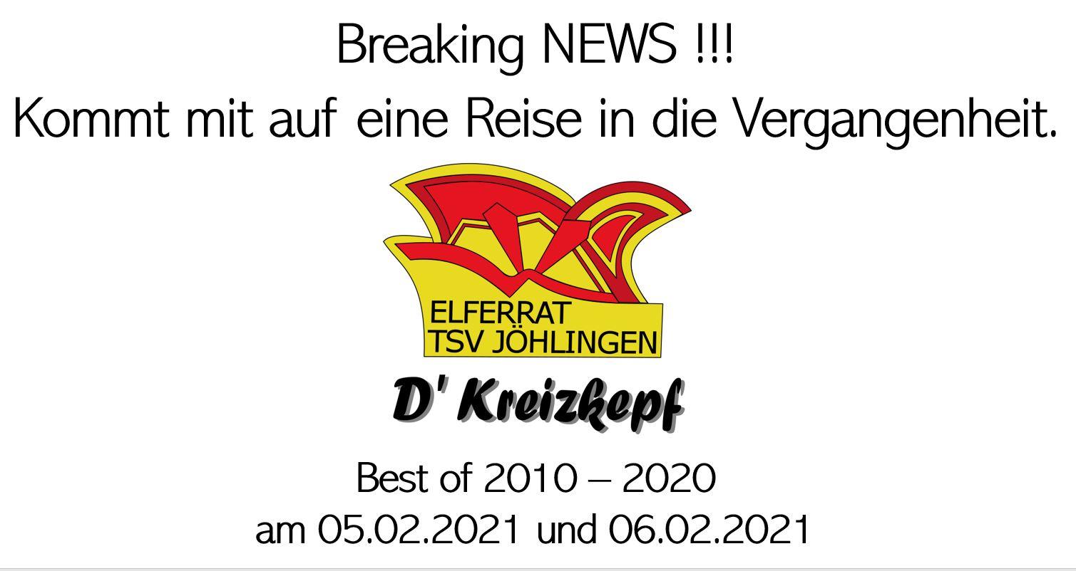 Online-Prunksitzung der Jöhlinger Kreizkepf