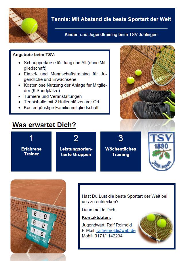 Tennis Kinder- und Jugendtraining beim TSV Jöhlingen